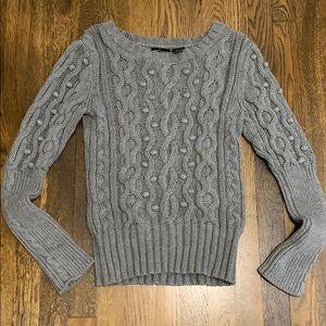 Grey Pom Pom Sweater
